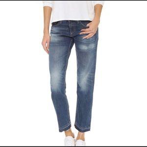 Rag and bone boyfriend cropped jeans